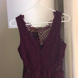 City Triangles Dresses - burgundy homecoming dress!!